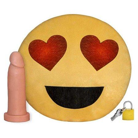 Pelúcia Emoji Coração Com Prótese Universo da Pelúcia