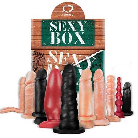 Kit Sexy Box Verde 10 Próteses Maciças Variadas Sexy Fantasy