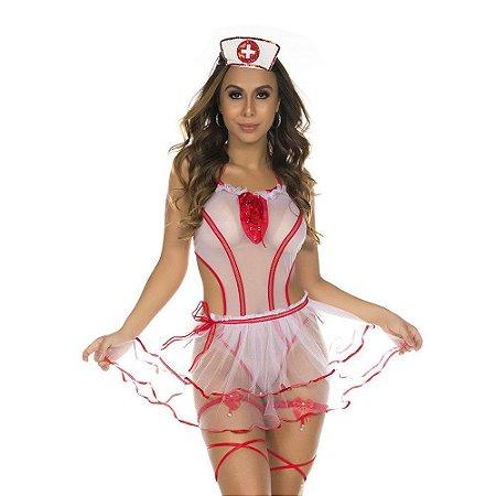 Fantasia Clássica Enfermeira Fogosa Pimenta Sexy