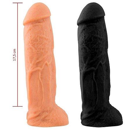 Prótese Maciça Com Escroto 20,5 x 5,3cm Sexy Fantasy