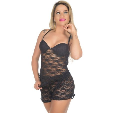 Short Doll Rendado Pimenta Sexy