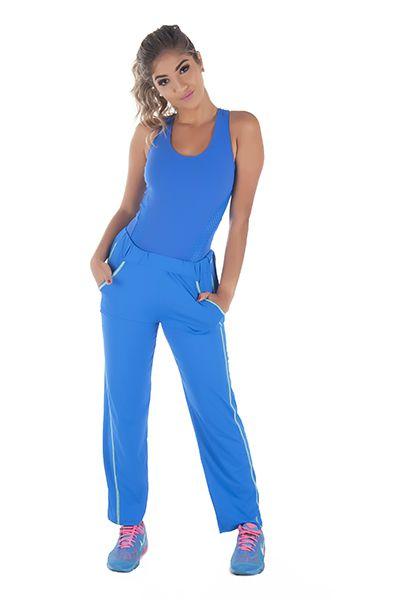 Calça Bailarina Fitness Azul