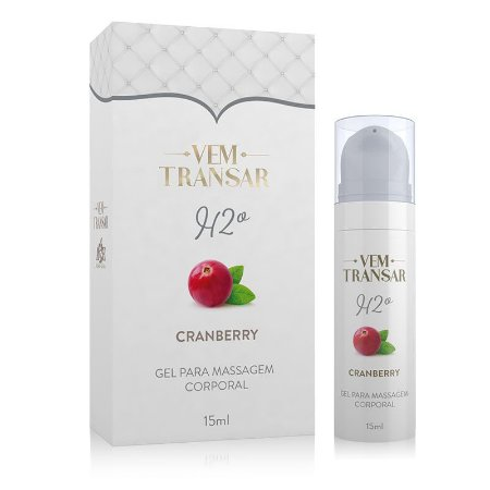 H2O - Gel Lubrificante a base d´água - Cranberry - embalagem com 15ml