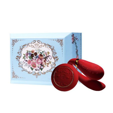 ZALO - Versailles Fanfan Set Couples Massager - Vermelho