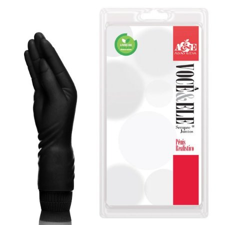 Hand Finger pequeno com vibrador 21x5 cm na cor preto