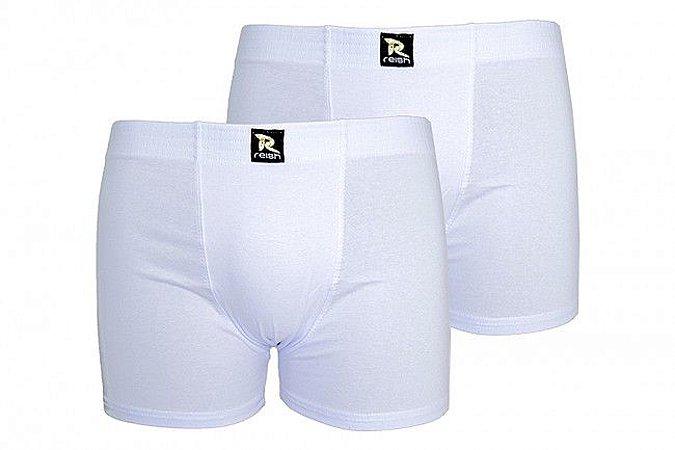 Kit com 2 Cuecas Boxer 221 - Cotton (BRANCA)