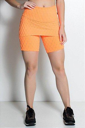 Bermuda Britney Tecido Bolha Fluor (Laranja Fluor)