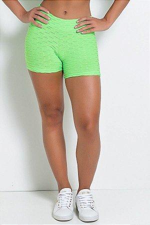 Shortinho Tecido Bolha Fluor (Verde Limão Fluor)