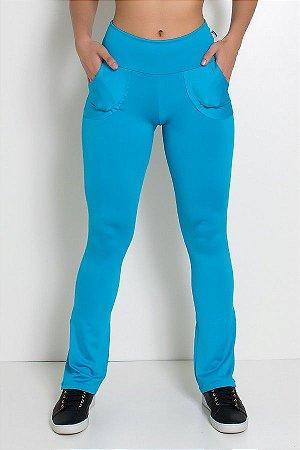 Calça Legging Bailarina Cores Lisas (Azul Celeste)