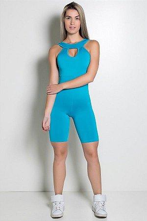 Macaquinho Fitness Andreza (Azul Celeste)