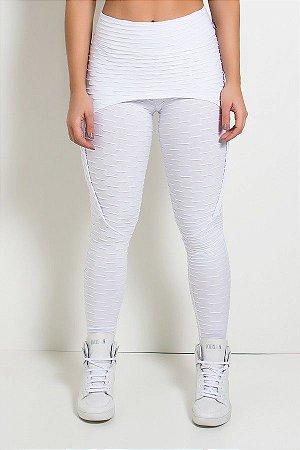 Calça Aranha Tecido Bolha (Branco)