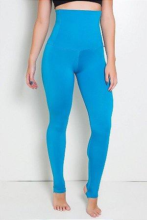Calça Mirella Modeladora com Pezinho (Azul Celeste)