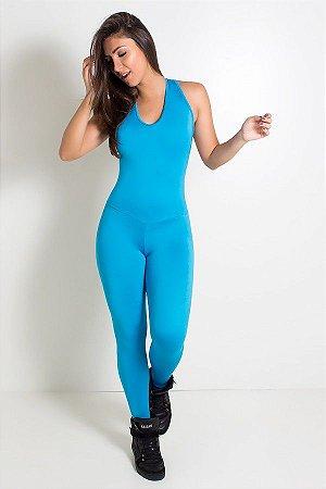 Macacão Fitness Suelene (Azul Celeste)