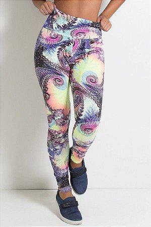 Legging Estampada Espiral Colorido