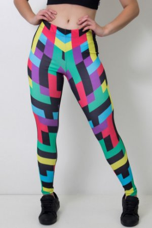 Calça Feminina Legging Sublimada Colorquad