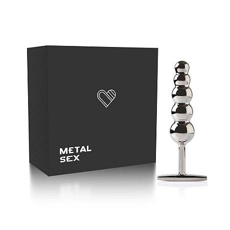 Plug Anal Metal Ball Steel - Cromado