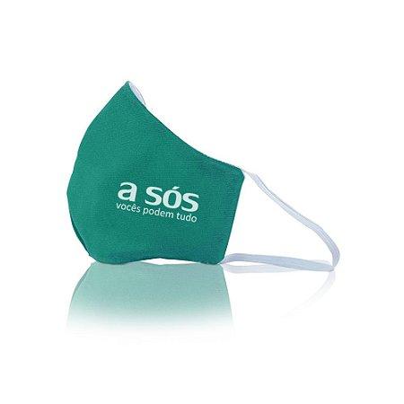 Máscara de Proteção Facial Reutilizável em Tecido Duplo A Sós