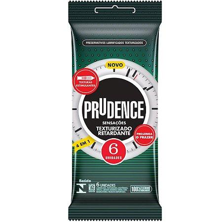 Preservativo Texturizado Retardante 6 Unidades Prudence