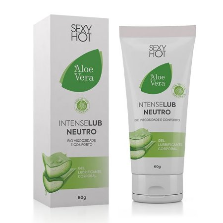 IntenseLub Neutro - Aloe Vera - Bioviscosidade e Conforto - 60g
