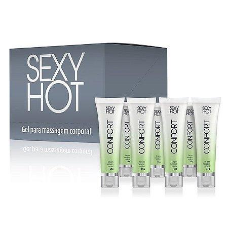 + Confort Sexy Hot - Gel para Massagem Corporal - 15g Caixa Blister Com 12 Unidades