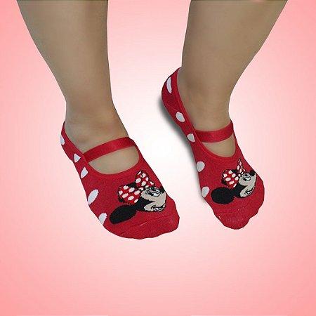 Meia sapatilha antiderrapante Minnie