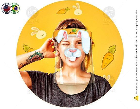 Protetor Facial Tema Coelho