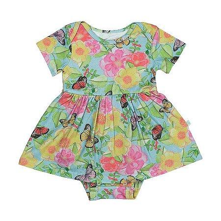 Vestido BioBaby Bebê Floral