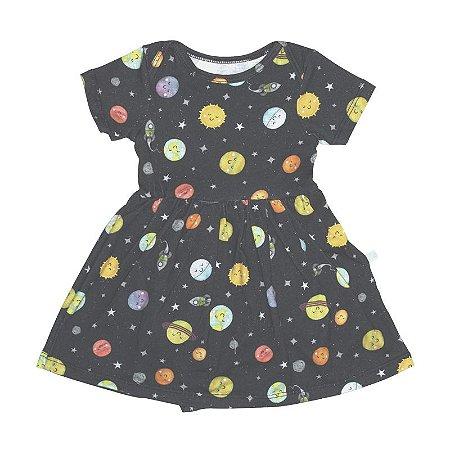 Vestido BioBaby Bebê Sistema Solar