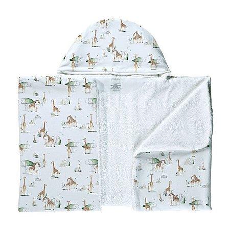 Toalha de Banho Abraço BioBaby Bebê Girafas