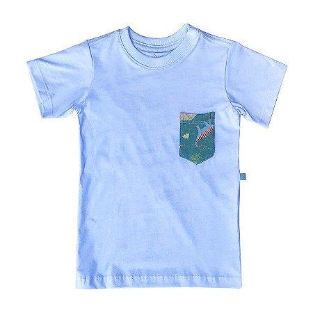 Camiseta BioBaby Kids Bolso Dinos do Brasil