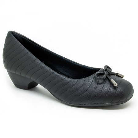 095f3dd2af Scarpin confort preto com laço - Sapatos Femininos