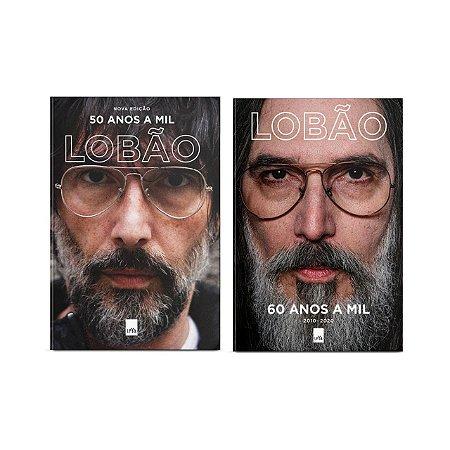 KIT Lobão 50 anos a mil (nova edição) + 60 anos a mil