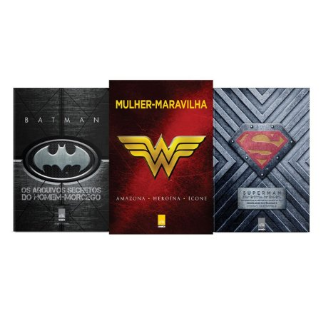 KIT Liga da Justiça - Os arquivos secretos do homem-morcego + Mulher-Maravilha - Amazona, heroína, ícone + Superman - Os arquivos secretos do homem de aço