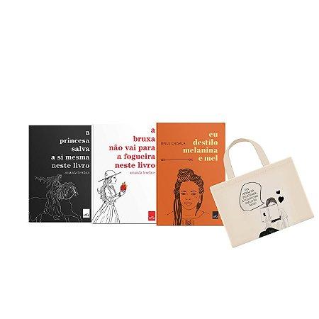 KIT Poesia - A princesa salva a si mesmo neste livro + A bruxa não vai para a fogueira neste livro + Eu destilo melanina e mel + ECOBAG Fui atrás da felicidade e achei um livro