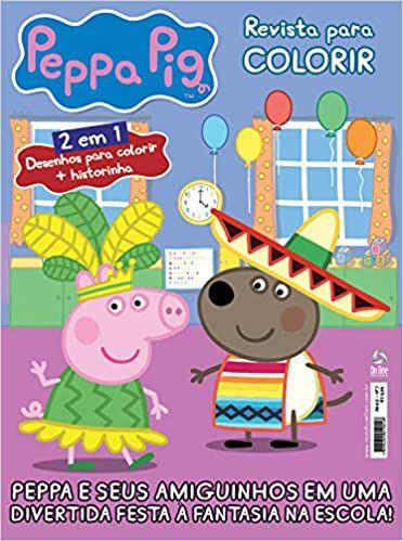Peppa Pig - Revista Para Colorir - BRINDE 01 prato raso