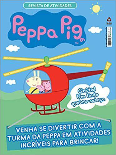Revista de Atividades - Peppa Pig - Brinde 01 prato fundo