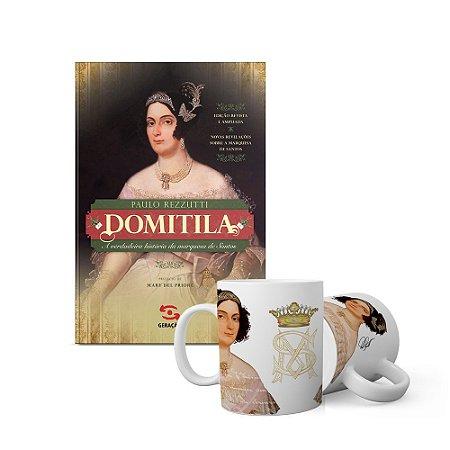 KIT história não contada Domitila - livro + caneca