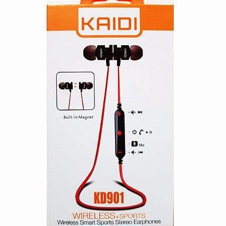 Fone De Ouvido Bluetooth Kaid Kd901 Com Microfone Imã