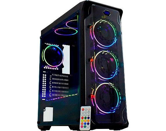 Gabinete Gaming Dark Trooper Led RGB CG-01B1 K-MEX