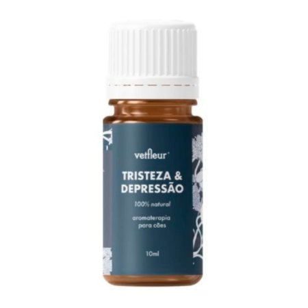 Aromaterapia para Cães Blend  Tristeza Depressão 10ml Vetfleur