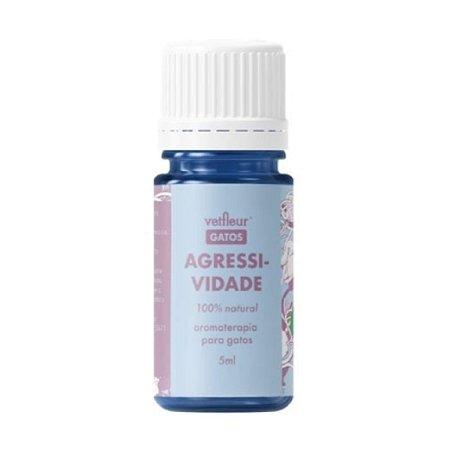 Aromaterapia para Gatos Blend Agressividade 10ml Vetfleur