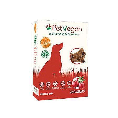 Biscoito Natural para Cães Cramberry Sem Glúten 200g PetVegan