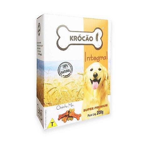 Biscoito Natural para Cachorro Ossinho Mix 200g Krocão