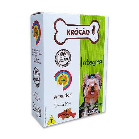 Biscoito Natural para Cachorro Ossinhos Mini 200g Krocão