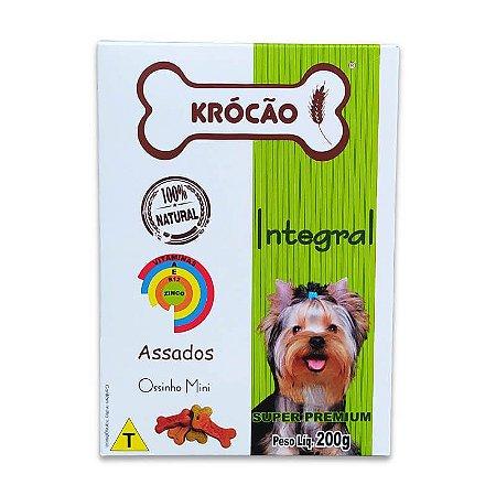 Biscoito Natural para Cachorro Ossinhos Mini 500g Krocão