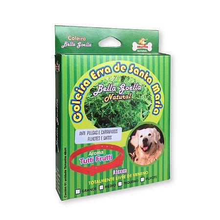 Coleira Natural Antipulgas Carrapatos para Cachorro Erva Santa Maria Bella Goella