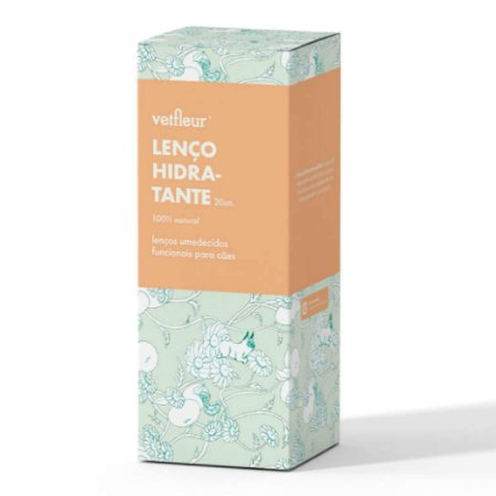 Lenço para Cachorro Hidratante Natural 20un Aromaterapia Vetfleur