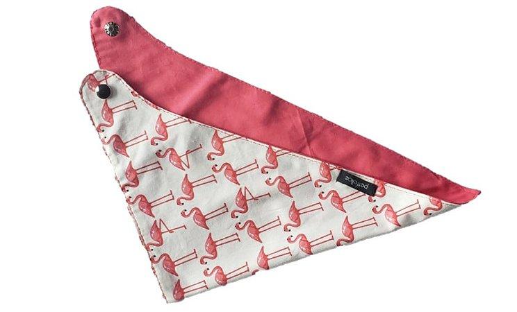 Bandana Dupla Face Flamingos - PetFellice