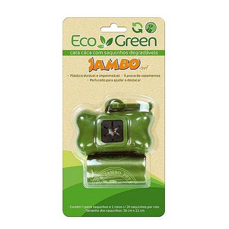 Kit Porta Saquinhos Biodegradável Cata cáca para Cachorro 2 rolos EcoGreen