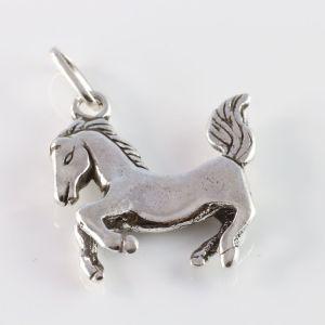 Pingente Prata de Lei Pet Cavalo Envelhecido